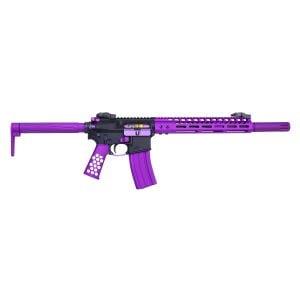 AR-15 Ultralight Series Complete Furniture Set (Anodized Purple)
