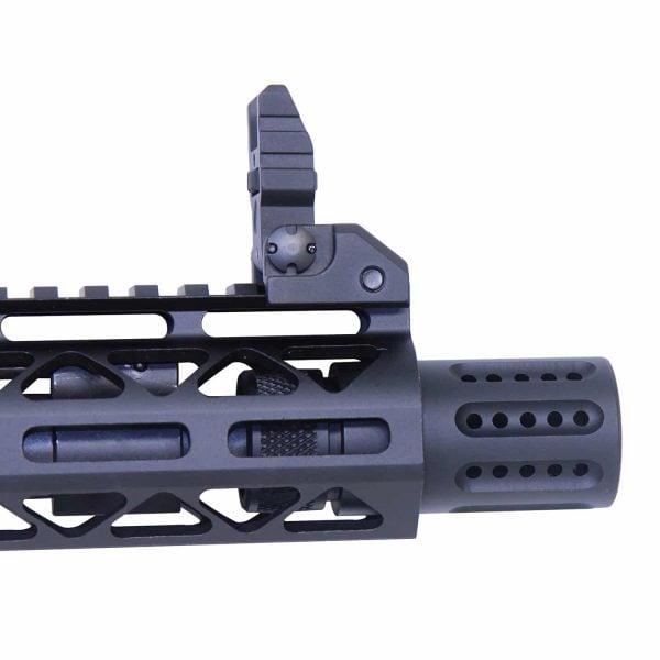 AR-15 Micro Slip Over Barrel Shroud With Multi Port Muzzle Brake (.308 Cal) (Anodized Black)
