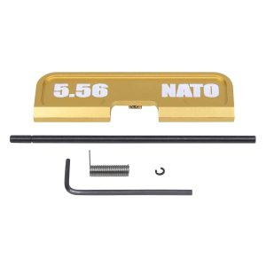 AR-15 Ejection Port Dust Cover Assembly (Gen 3) (W/ Lasered 5.56 NATO) (Anodized Gold)