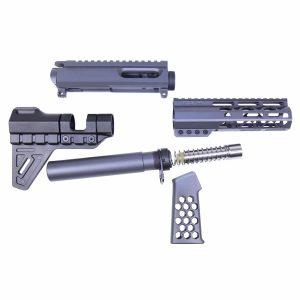 AR 9mm Pistol AIR-LOK Furniture Set W/ Matching Upper Receiver & Brace (Sniper Grey)