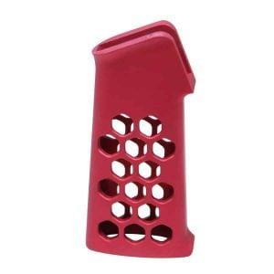 Airlite Series Skeletonized Aluminum Pistol Grip (Anodized Red)