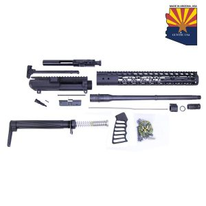 AR .308 Cal Complete Rifle Kit Combo #2 (No Lower) (Anodized Black)