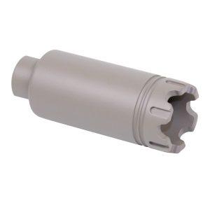 AR-10 .308 Cal Slim Line 'Trident' Flash Can With Glass Breaker (Flat Dark Earth)