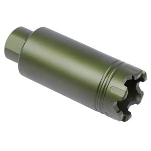 AR-15 Slim Line 'Trident' Flash Can With Glass Breaker (Anodized Green)
