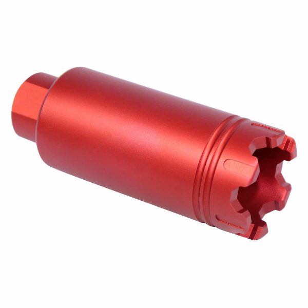 AR-15 Slim Line 'Trident' Flash Can With Glass Breaker (Anodized Red)