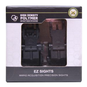 AR-15 'Ez Sights' Thin Profile Polymer Back Up Iron Sight Set