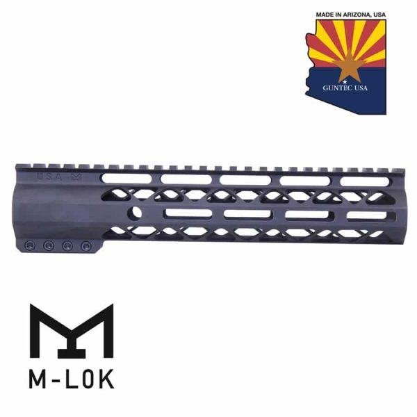 """10"""" AIR-LOK Series M-LOK Compression Free Floating Handguard With Monolithic Top Rail"""
