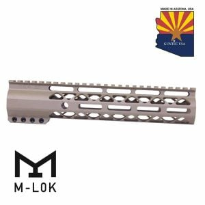 "10"" AIR-LOK Series M-LOK Compression Free Floating Handguard With Monolithic Top Rail (Flat Dark Earth)"