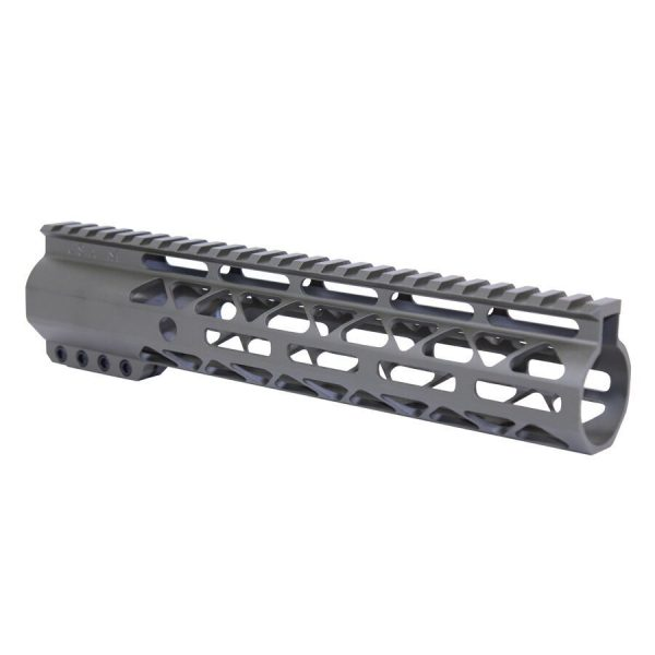 """10"""" AIR-LOK Series M-LOK Compression Free Floating Handguard With Monolithic Top Rail (OD Green)"""