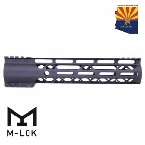 "10"" AIR-LOK Series M-LOK Compression Free Floating Handguard With Monolithic Top Rail (Gen 2) (Anodized Black)"