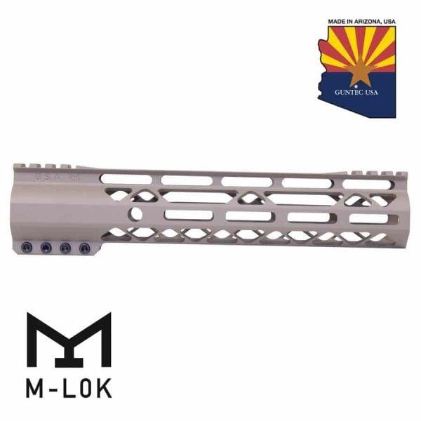"10"" AIR-Lok Series M-LOK Compression Free Floating Handguard With Monolithic Top Rail (Gen 2) (Flat Dark Earth)"