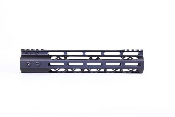 "10"" Mod Lite Skeletonized Series M-LOK Free Floating Handguard With Monolithic Top Rail"