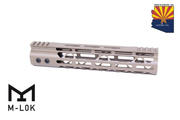"10"" Mod Lite Skeletonized Series M-LOK Free Floating Handguard With Monolithic Top Rail (Flat Dark Earth)"