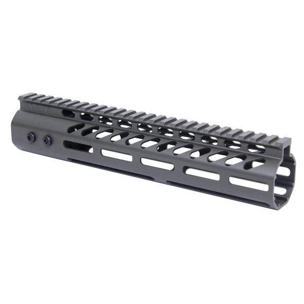 """10"""" Ultra Lightweight Thin M-LOK System Free Floating Handguard With Monolithic Top Rail (.308 Cal) (OD Green)"""