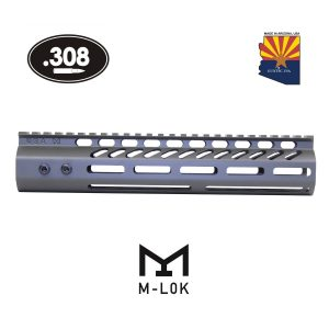 "10"" Ultra Lightweight Thin M-LOK System Free Floating Handguard With Monolithic Top Rail (.308 Cal) (OD Green)"