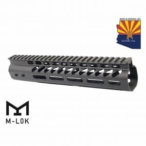 "10"" Ultra Lightweight Thin M-LOK System Free Floating Handguard With Monolithic Top Rail (OD Green)"
