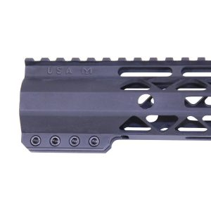 "12"" AIR-LOK Series M-LOK Compression Free Floating Handguard With Monolithic Top Rail (Anodized Black)"