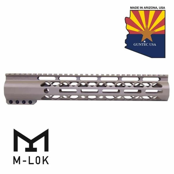 "12"" AIR-LOK Series M-LOK Compression Free Floating Handguard With Monolithic Top Rail (Flat Dark Earth)"