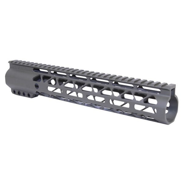 """12"""" AIR-LOK Series M-LOK Compression Free Floating Handguard With Monolithic Top Rail (OD Green)"""