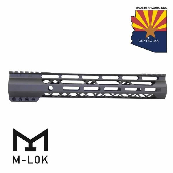 """12"""" AIR-LOK Series M-LOK Compression Free Floating Handguard With Monolithic Top Rail (Gen 2) (OD Green)"""