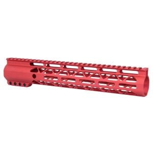 "12"" AIR-LOK Series M-LOK Compression Free Floating Handguard With Monolithic Top Rail (Anodized Red)"