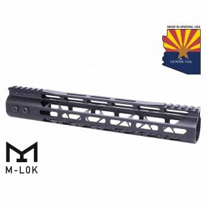"12"" Mod Lite Skeletonized Series M-LOK Free Floating Handguard With Monolithic Top Rail (Anodized Black)"
