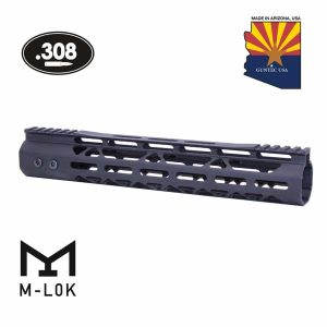 "12"" Mod Lite Skeletonized Series M-LOK Free Floating Handguard With Monolithic Top Rail (.308 Cal) (Anodized Black)"