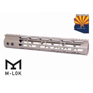 "12"" Mod Lite Skeletonized Series M-LOK Free Floating Handguard With Monolithic Top Rail (Flat Dark Earth)"