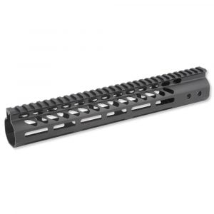"""12"""" Ultra Lightweight Thin M-LOK System Free Floating Handguard With Monolithic Top Rail (Anodized Black)"""