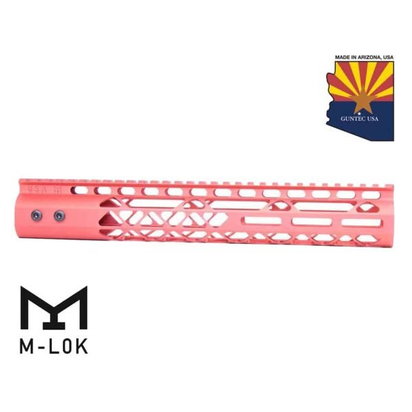 """12"""" Air Lite M-LOK Free Floating Handguard With Monolithic Top Rail (Anodized Red)"""