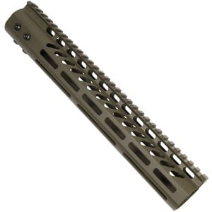 "12"" Ultra Lightweight Thin M-LOK System Free Floating Handguard With Monolithic Top Rail (OD Green)"
