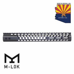 """15"""" Air Lite Series 'Honeycomb' M-LOK Free Floating Handguard With Monolithic Top Rail (OD Green)"""