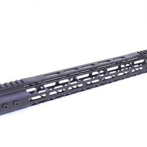 "15"" Mod Lite Skeletonized Series M-LOK Free Floating Handguard With Monolithic Top Rail (.308 Cal) (Anodized Black)"
