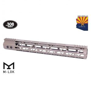 "15"" Mod Lite Skeletonized Series M-LOK Free Floating Handguard With Monolithic Top Rail (.308 Cal) (Flat Dark Earth)"