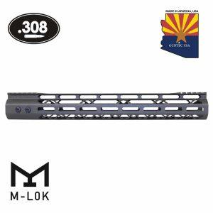"15"" Mod Lite Skeletonized Series M-LOK Free Floating Handguard With Monolithic Top Rail (.308 Cal) (OD Green)"