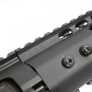 """15"""" Ultra Lightweight Thin M-LOK System Free Floating Handguard With Monolithic Top Rail (.308 Cal) (Anodized Black)"""