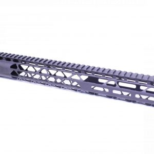 """15"""" Air Lite Series M-LOK Free Floating Handguard With Monolithic Top Rail (Anodized Black)"""