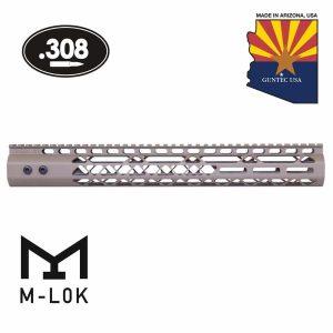 "15"" Air Lite Series M-LOK Free Floating Handguard With Monolithic Top Rail (.308 Cal) (Flat Dark Earth)"