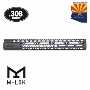 """15"""" Air Lite Series M-LOK Free Floating Handguard With Monolithic Top Rail (.308 Cal) (OD Green)"""