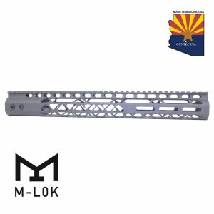 """15"""" Air Lite Series M-LOK Free Floating Handguard With Monolithic Top Rail (OD Green)"""