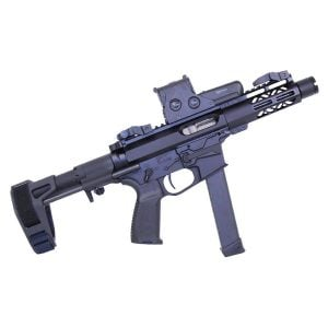 """5"""" AIR-LOK Series M-LOK Compression Free Floating Handguard With Monolithic Top Rail (Anodized Black)"""