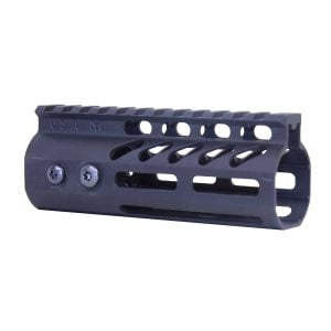 """5"""" Ultra Lightweight Thin M-LOK Free Floating Handguard With Monolithic Top Rail (Anodized Black)"""