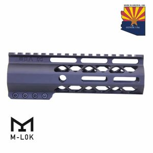 """6.75"""" AIR-LOK Series M-LOK Compression Free Floating Handguard With Monolithic Top Rail (Anodized Black)"""