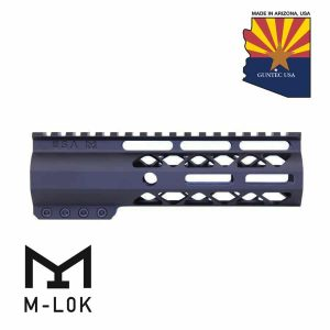 """7"""" AIR-LOK Series M-LOK Compression Free Floating Handguard With Monolithic Top Rail (Anodized Black)"""