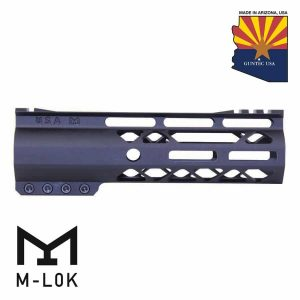 """7"""" AIR-LOK Series M-LOK Compression Free Floating Handguard With Monolithic Top Rail (Gen 2) (Anodized Black)"""
