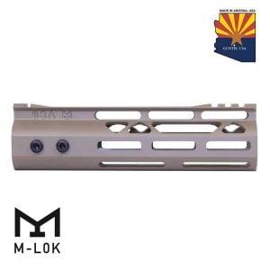 "7"" Mod Lite Skeletonized Series M-LOK Free Floating Handguard With Monolithic Top Rail (Flat Dark Earth)"