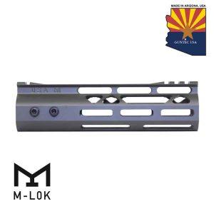"7"" Mod Lite Skeletonized Series M-LOK Free Floating Handguard With Monolithic Top Rail (OD Green)"