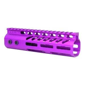 """7"""" Ultra Lightweight Thin M-LOK Free Floating Handguard With Monolithic Top Rail (Anodized Purple)"""