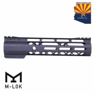 """9"""" AIR-LOK Series M-LOK Compression Free Floating Handguard With Monolithic Top Rail (Gen 2) (Anodized Black)"""