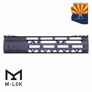 "9"" Mod Lite Skeletonized Series M-LOK Free Floating Handguard With Monolithic Top Rail (Anodized Black)"